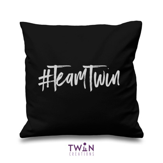 #TeamTwin Cushion Black