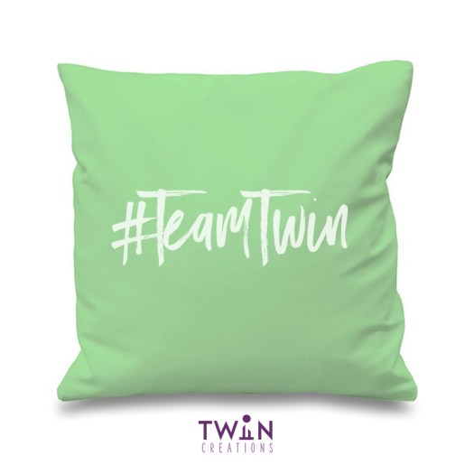 #TeamTwin Cushion Mint