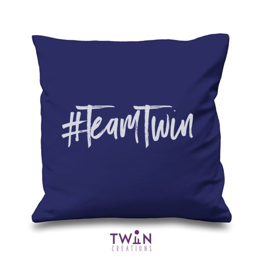 #TeamTwin Cushion Navy