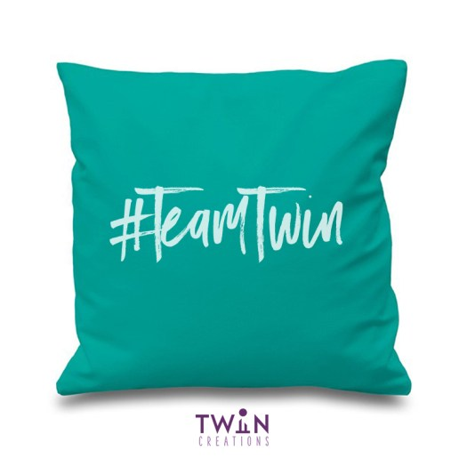 #TeamTwin Cushion Turquoise