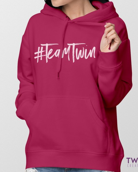 team twin hoodie ladies feature
