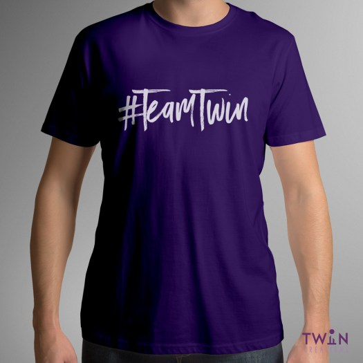 Team Twin Mens T-Shirt Purple
