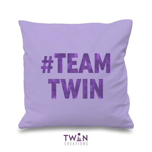 #TEAMTWIN bold cushion cover lilac