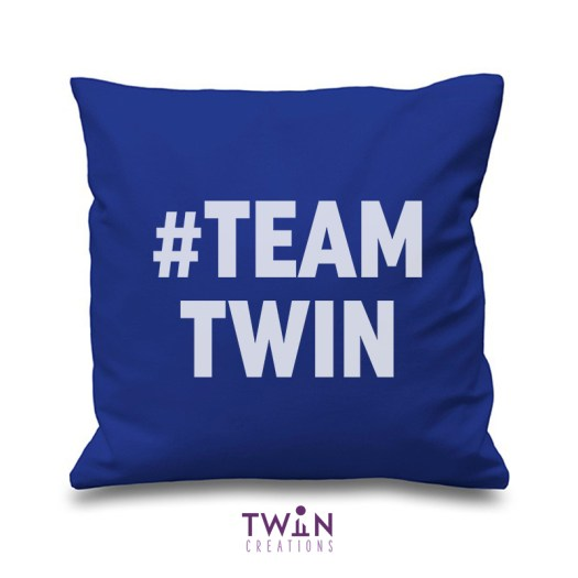 #TEAMTWIN bold cushion cover royal