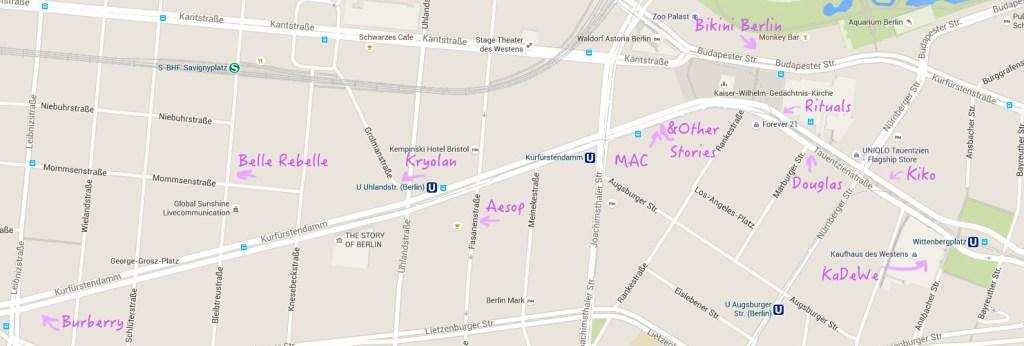 Kudamm - Berlin Beauty Shopping Map