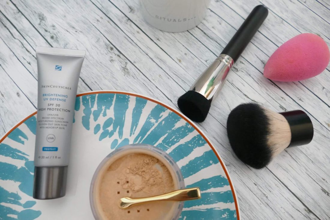 Tutorial mineral foundation with spf