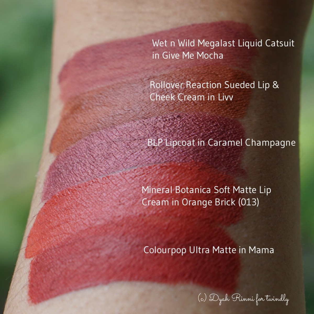 Indonesian Matte Lip Cream Swatch