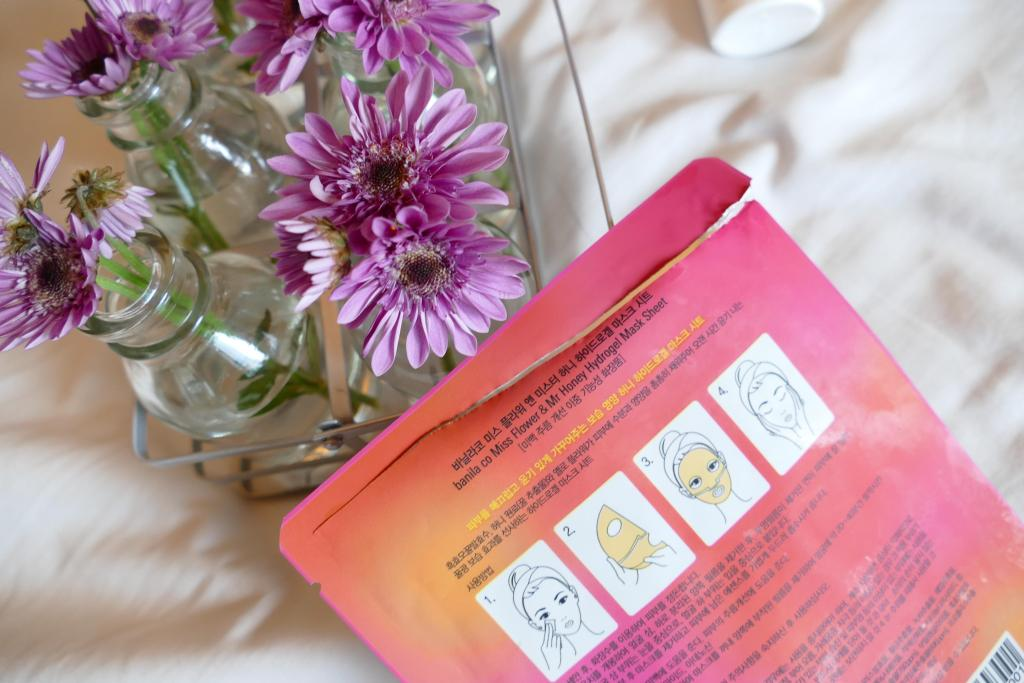 banila co.'s Mr Honey and Miss Flower hydrogel mask review