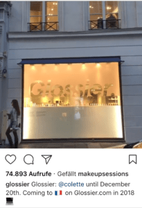 Glossier store in Paris