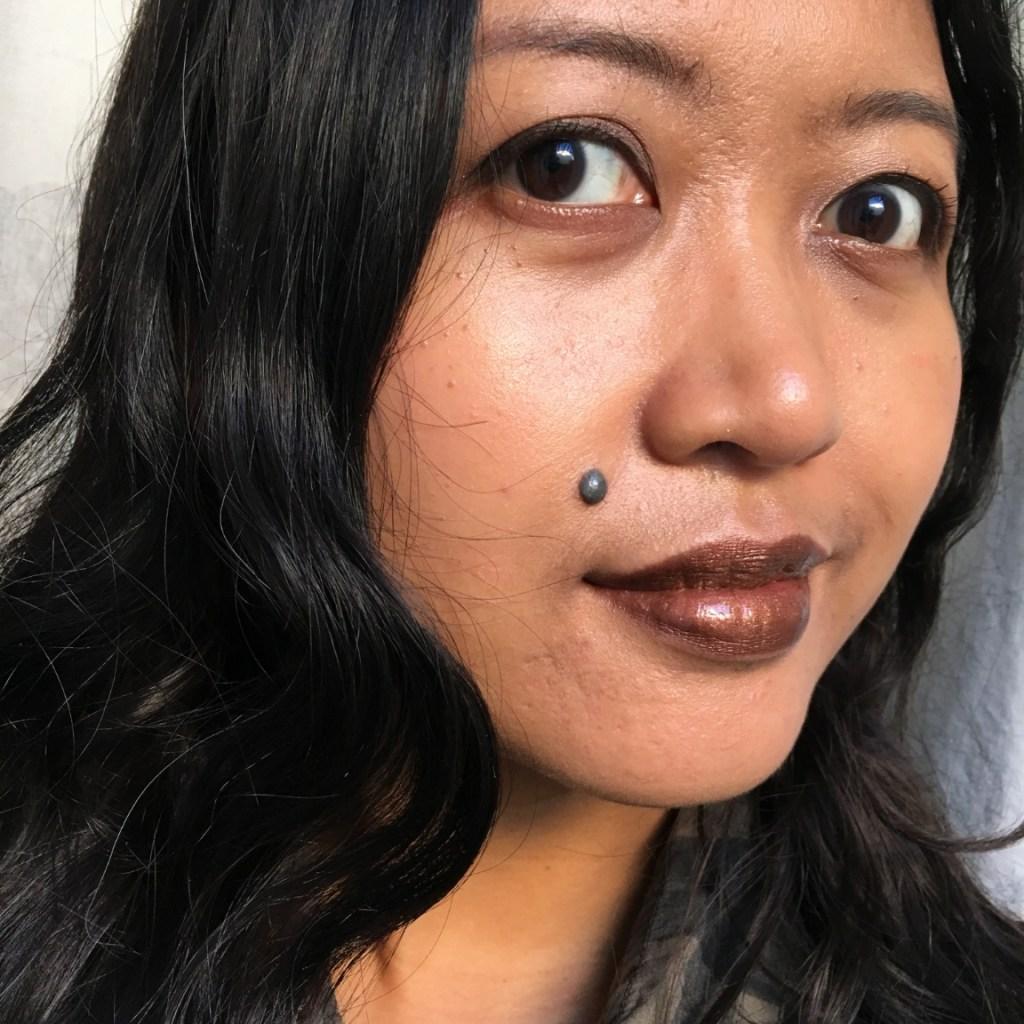 MAC Viva Glam Taraji P. Henson 2 Lipstick on NC42 skin