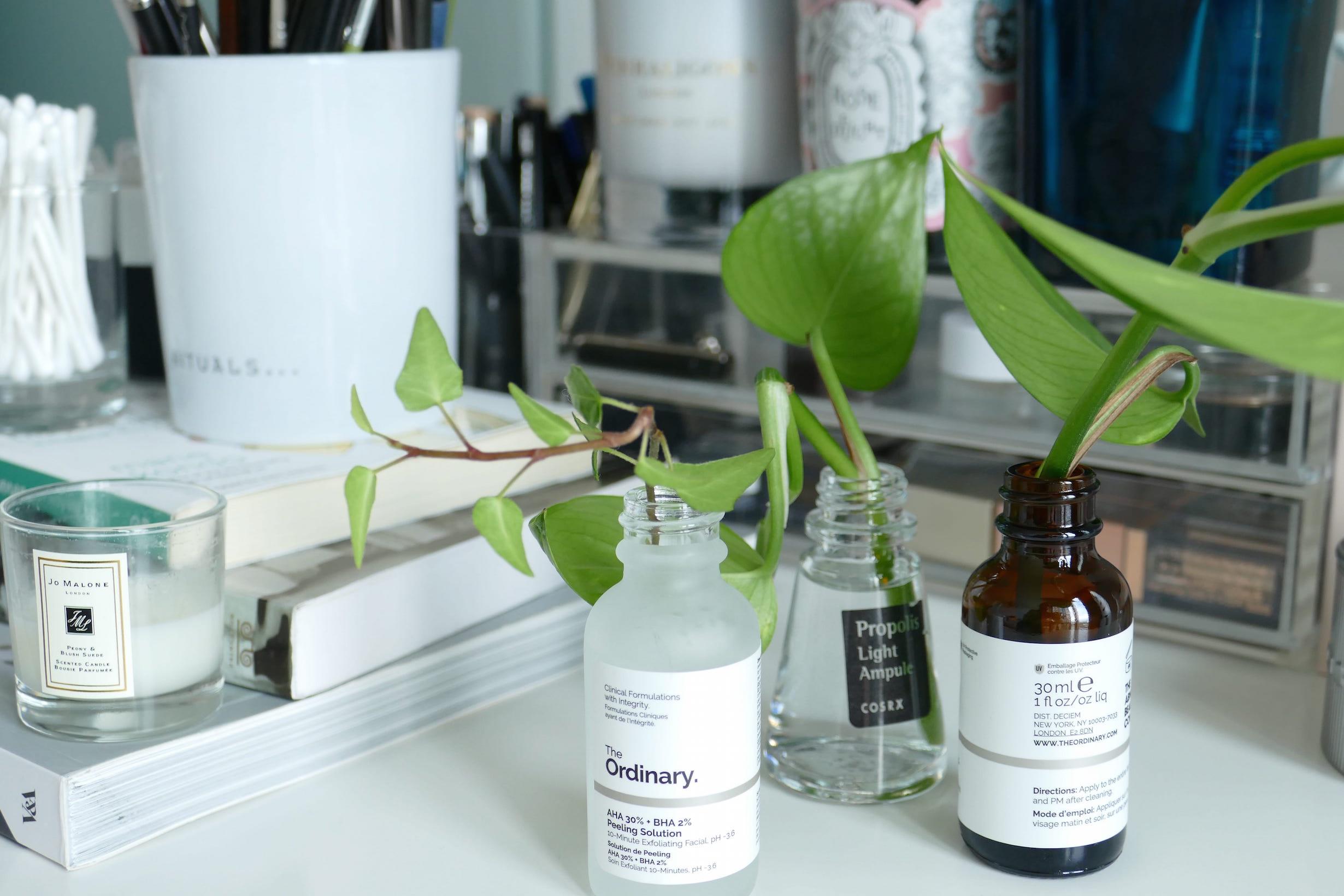Skincare Jars used as sprouting jars
