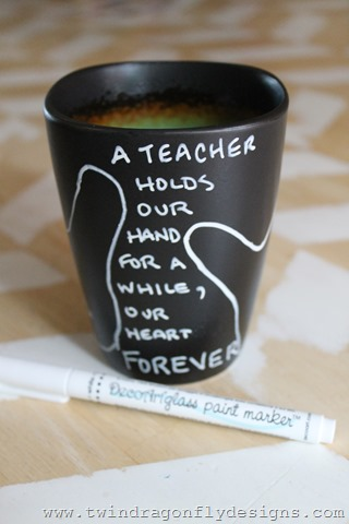 DIY Teacher Appreciation Mug Dragonfly Designs