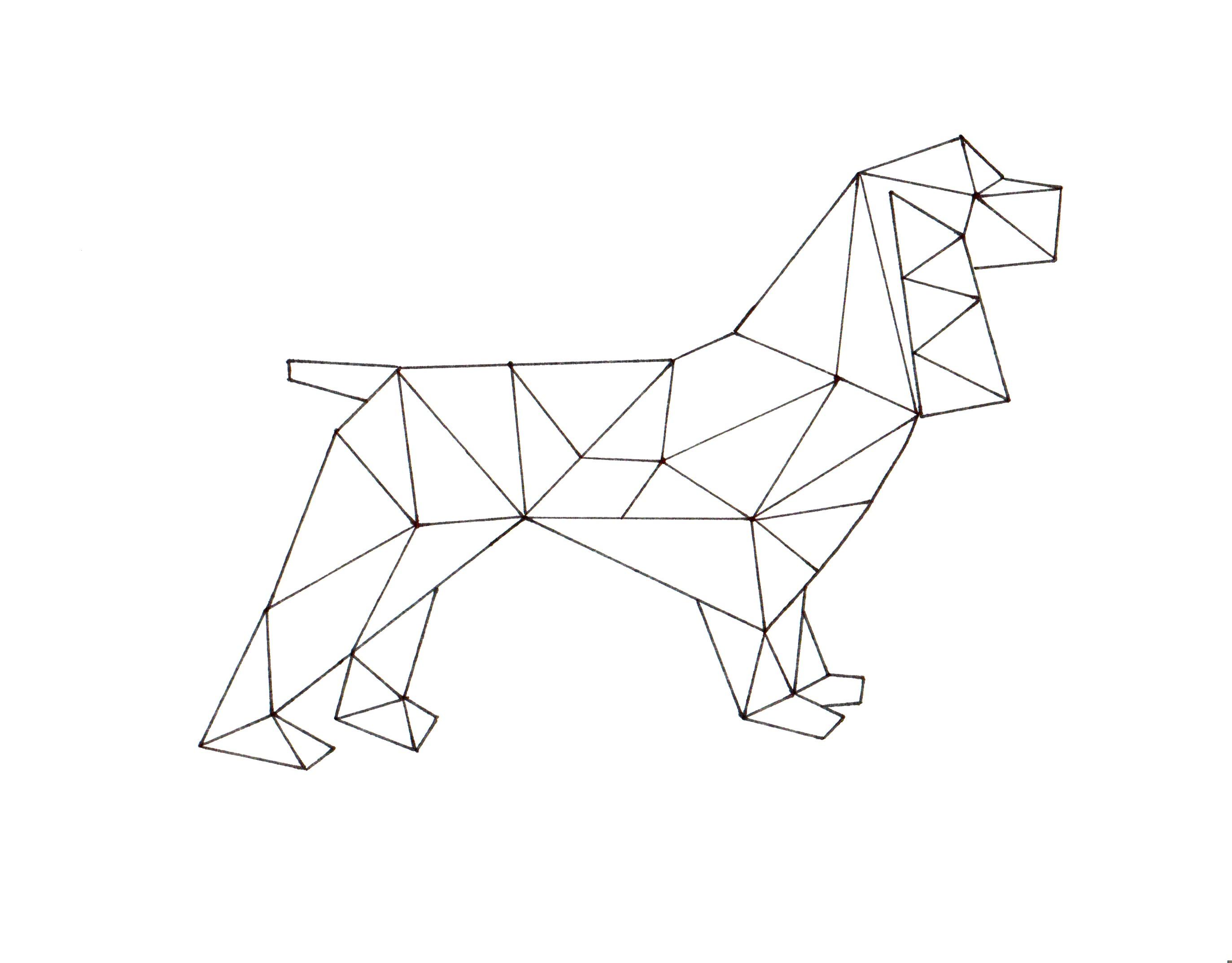 Geometric Spaniel Printable Art Dragonfly Designs