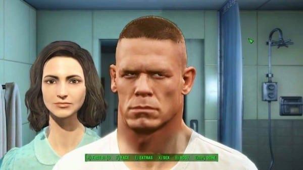Fallout 4, character creation, John Cena