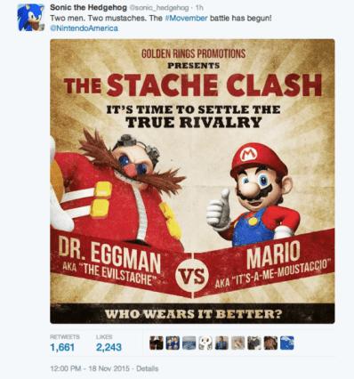 Movember Eggman and Mario