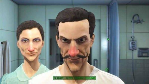 Fallout 4, character creation, Waluigi
