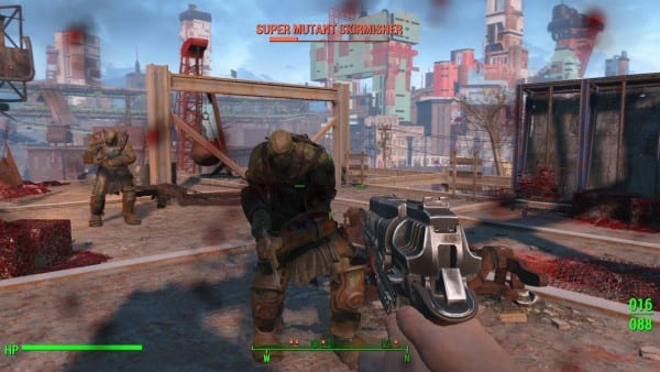 fallout 4 super mutant skirmisher fight