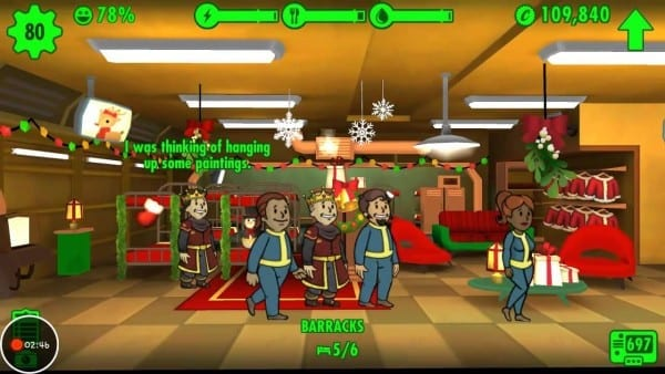 Fallout Shelter Holiday
