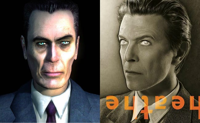 David Bowie is in every video game, G-Man, Half-Life