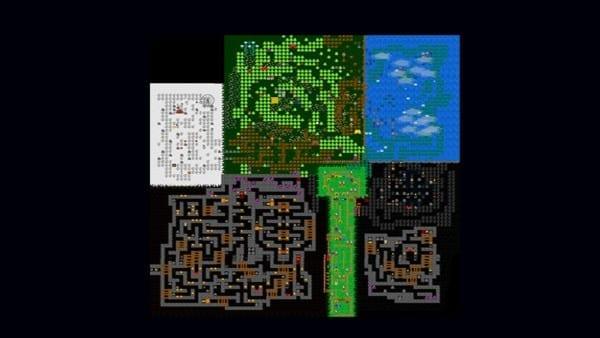 fnaf world map
