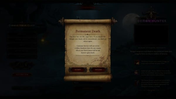 130 hours into this HC Demon Hunter? Allow me to drop your connection for no reason