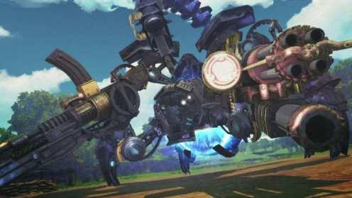 Valkyria, azure revolution, battle, mech, screenshot