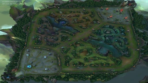 summoner's rift league of legends map