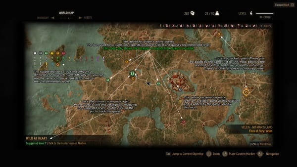 Witcher 3 Mod, All Quest Objectives