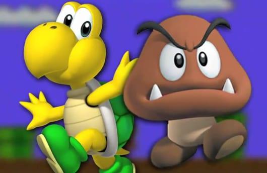 Goomba, Koopa, video game, enemies