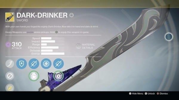 destiny exotic swords dark drinker