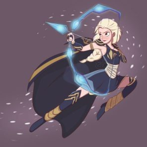 Elsa as Ashe Disney princesses as League of legends champions
