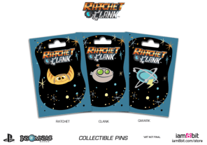 Ratchet and Clank, pins, merchandise, movie, game