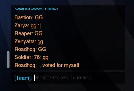Overwatch, GG, bots