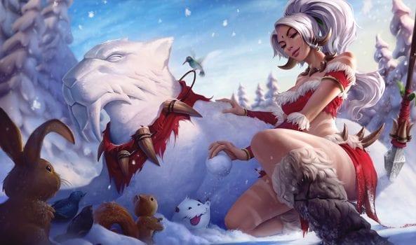 Snow Bunny Nidalee skin splash art