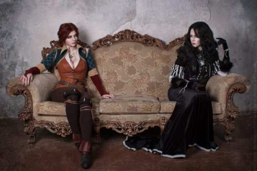 Triss and Yennefer