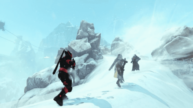 Guardians Casually Scaling a Mountain