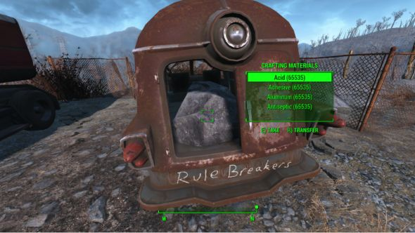 infinite crafting materials fallout 4