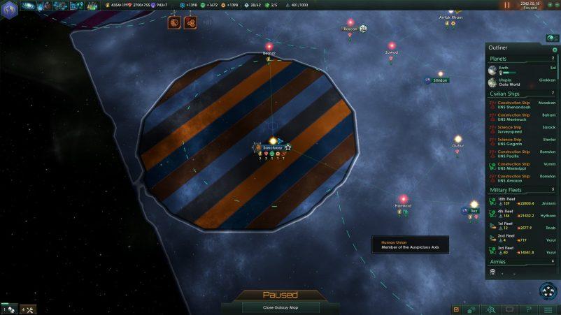 Stellaris, Map