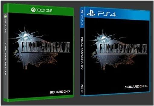 Final Fantasy XV, cover art, reversible