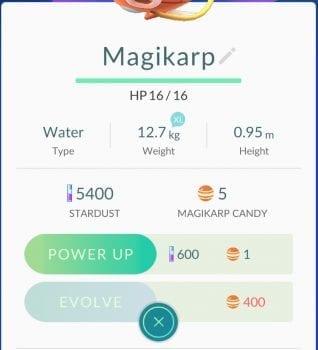 Pokemon GO, Magikarp