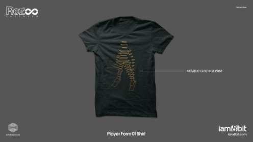Rez Infinite T-shirt Gold Foil