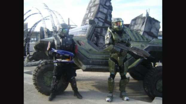 The Chief, an ODST, and their Ride