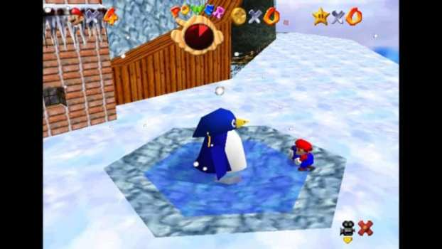 He drops penguins off of cliffs. Well... you control him, but he doesn't make any effort to stop you.