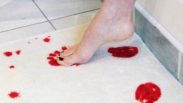 Bloody Print Bathroom Rug