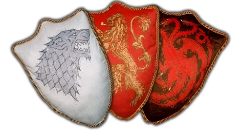 House Sigil Throw Pillows