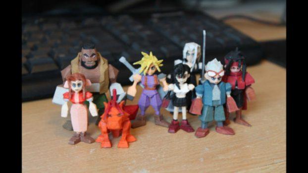 3D Printed Final Fantasy VII Figures
