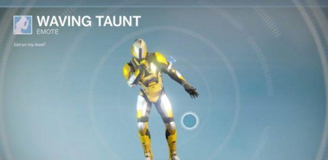 Waving Taunt