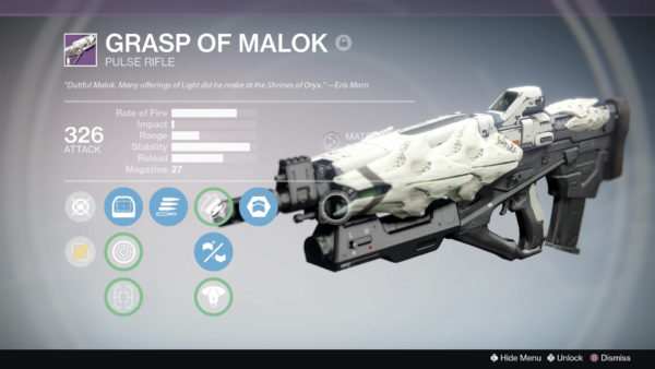 Grasp of Malok, Destiny