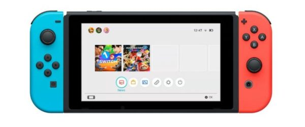 Nintendo Switch Home Menu