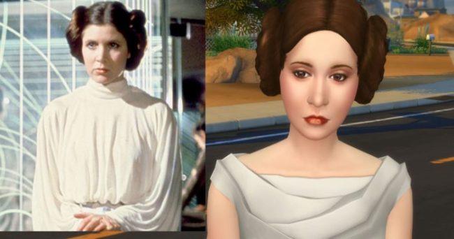 Carrie Fisher as Princess Leia Organa